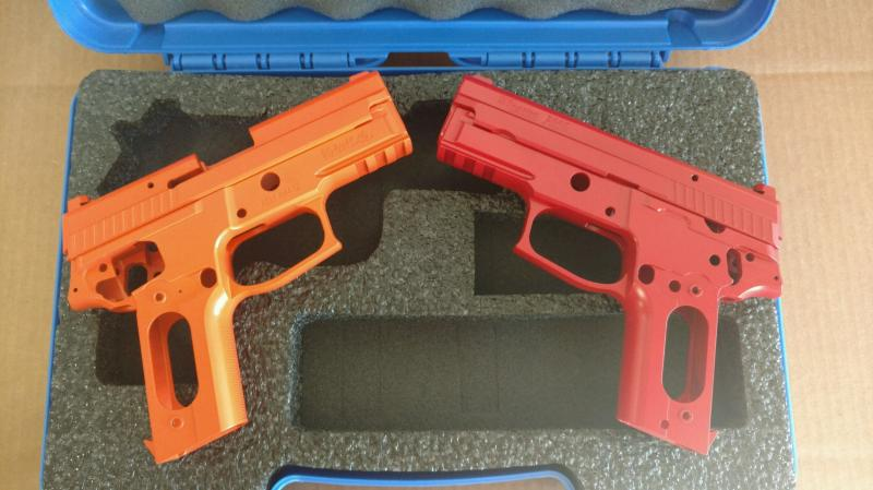 Safety Orange and Smith and Wesson Red