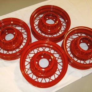 road glide wheels in mirror red