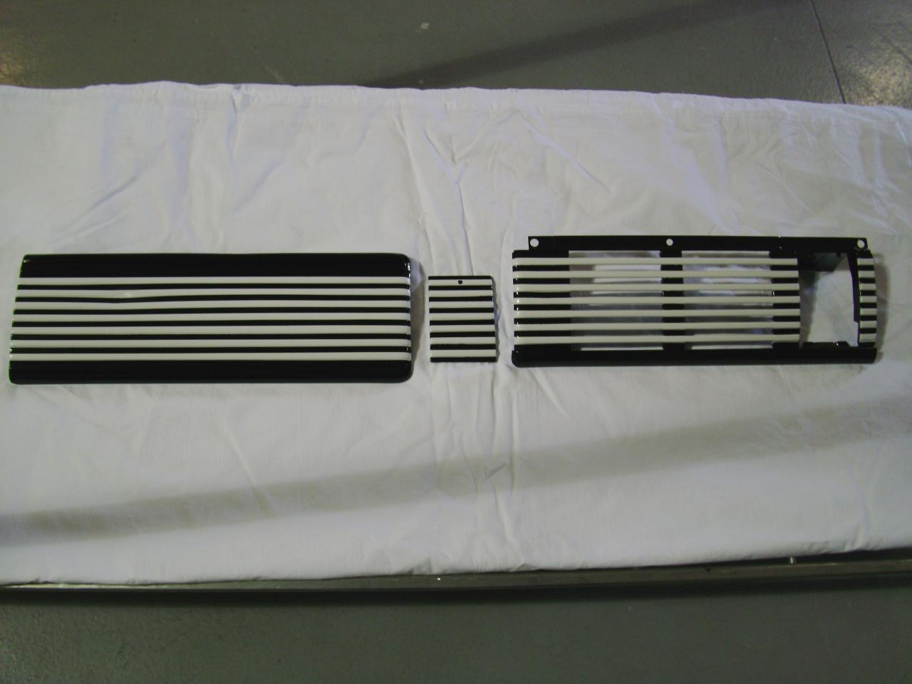 1949 chevy dash parts in gloss black and cream